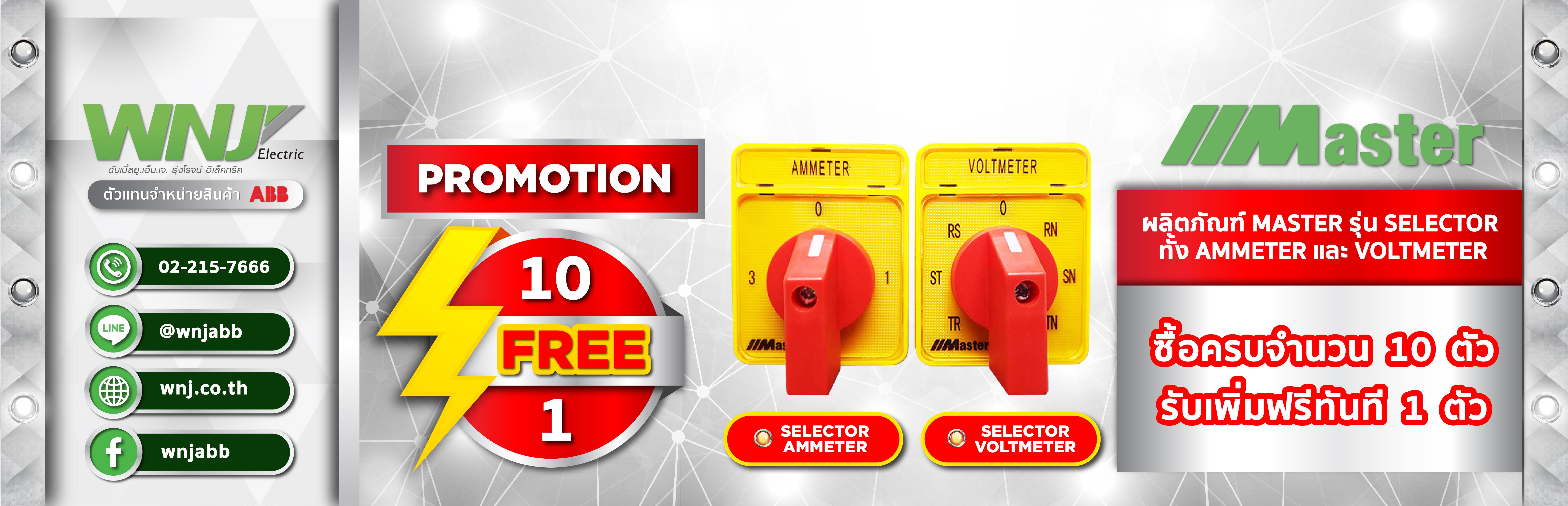 Promotion Selector 10Free1, Ammeter, Voltmeter